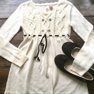 Route 66 Dress Cream Knit 5-6